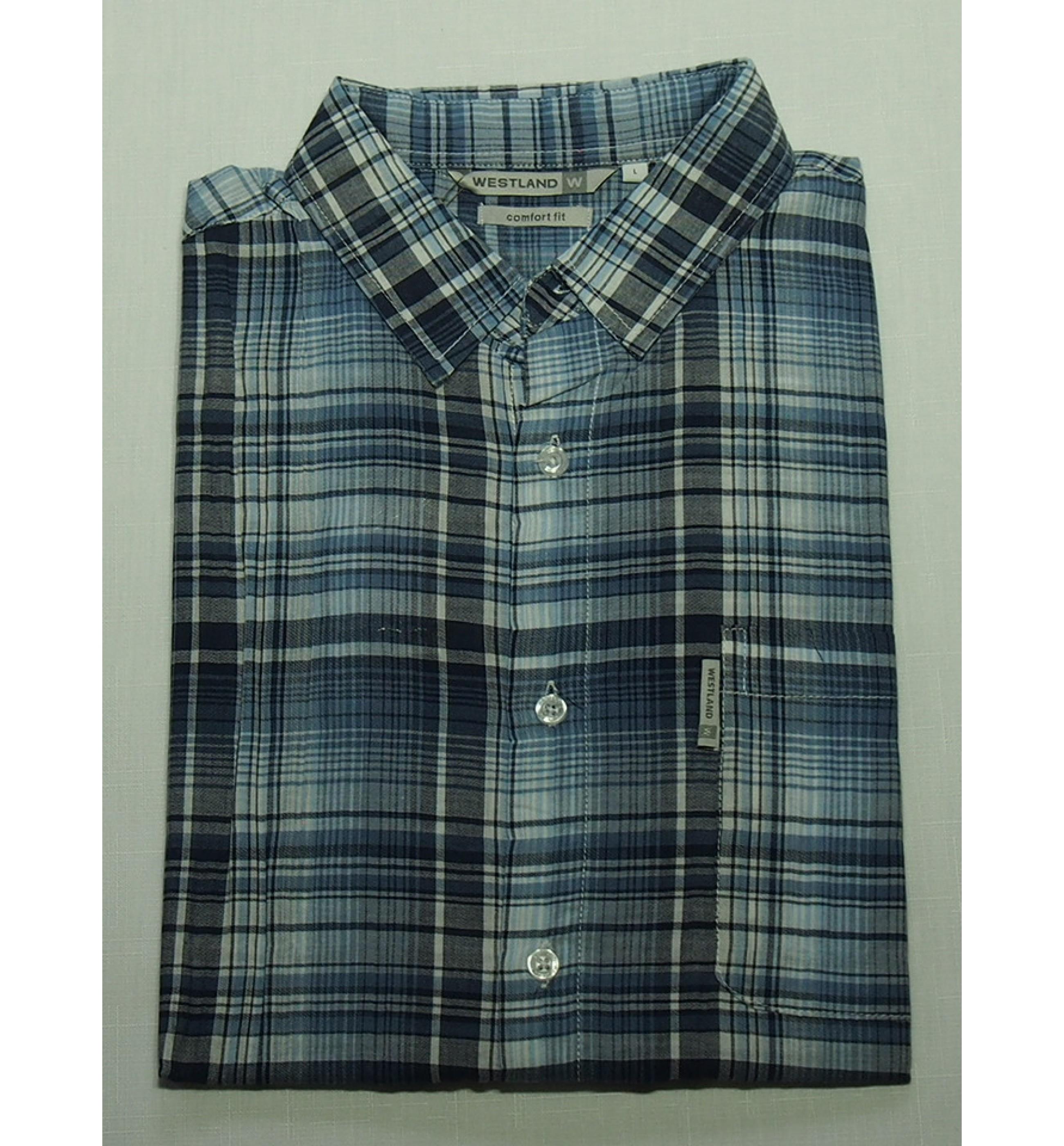 Мужская рубашка Westland  Blue 1023