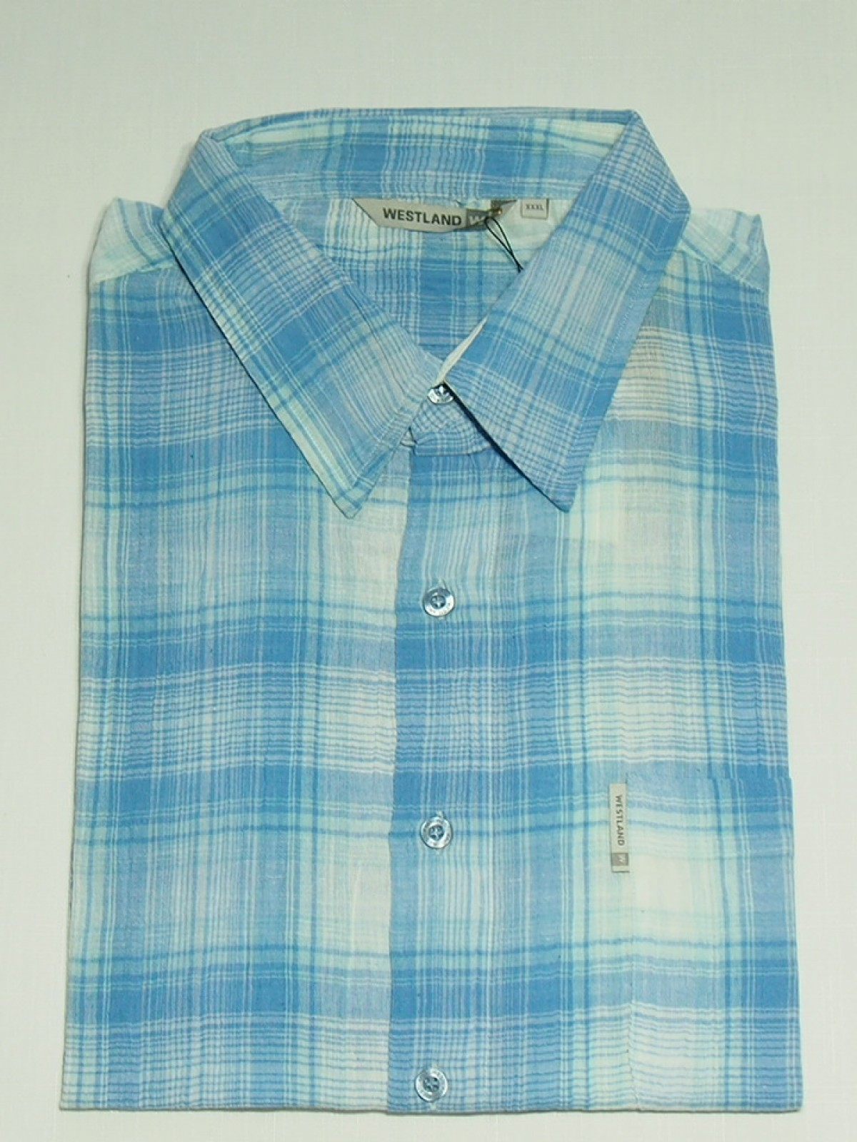 Мужская рубашка Westland Blue Aquamarin 1023